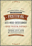 Vintage Festival Poster Royalty Free Stock Image