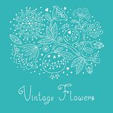 Vintage Festive Card With Flowers And Pomegranate. Stock Image