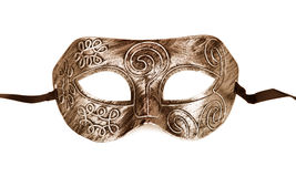 Vintage festive gold dress mask Royalty Free Stock Images