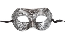 Vintage festive silver dress mask Stock Images