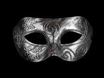 Vintage festive silver dress mask Royalty Free Stock Photo
