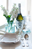 Vintage festive table setting Royalty Free Stock Images