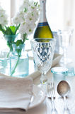 Vintage festive table setting Royalty Free Stock Photography