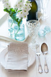 Vintage festive table setting Royalty Free Stock Image