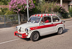 Vintage Fiat Abarth 850 TC derived from the Fiat 600 Stock Image