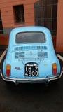 Vintage Fiat azul 500 litros Fotografia de Stock Royalty Free