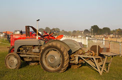 Vintage field tractor Stock Images