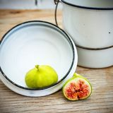 Vintage fig fruit canvas and poster stock photography