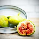 Vintage fig fruit canvas and poster Royalty Free Stock Photos