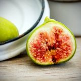 Vintage fig fruit canvas and poster Stock Images