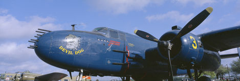 Vintage fighter aircraft Royalty Free Stock Photo