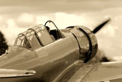 Vintage Fighter Training Aircraft Stock Images
