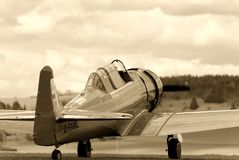 Vintage Fighter Training Aircraft Royalty Free Stock Photo