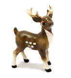 Vintage figurine of fallow deer Royalty Free Stock Photos