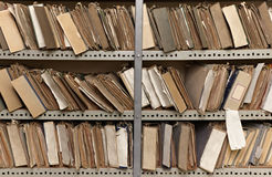 Vintage file documents Stock Images