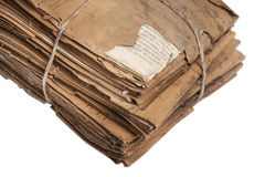 Vintage files. Dusty old files, full of history Stock Photography