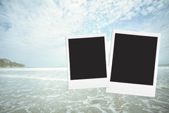 Vintage fillter photo frame at sea hua hin in Thailand Royalty Free Stock Images