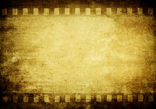 Vintage film. Old canvas with film strip border Royalty Free Stock Image