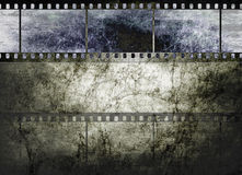Vintage film art on dark textured background Royalty Free Stock Photography