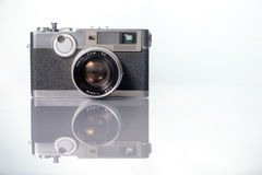 Vintage film camera. Vintage classic rangefinder film camera Royalty Free Stock Photography