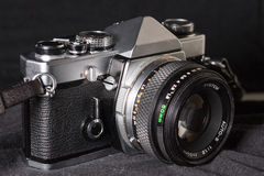 Vintage film camera close-up Stock Photo