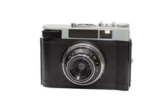 Vintage film camera isolated on white background Stock Images