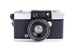 Vintage film camera isolated on white background.  royalty free stock photo