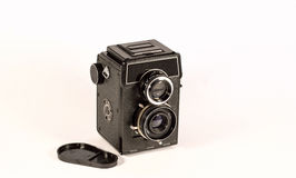 Vintage film camera. Camera film 60 millimeters. Not expensive, very easy to travel, makes high-quality photos Royalty Free Stock Photography