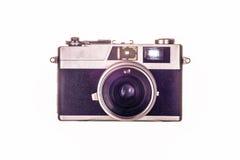 Vintage  film camera. Vintage film camera on white background Stock Photos
