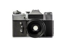 Vintage film camera on white background Royalty Free Stock Photos