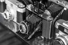 Vintage film cameras Royalty Free Stock Image