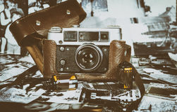 Vintage film cameras Royalty Free Stock Image