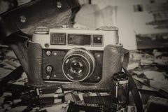 Vintage film cameras Royalty Free Stock Photos