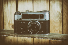 Vintage film cameras Royalty Free Stock Photo