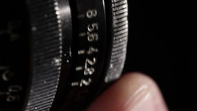 Vintage film lens. Aperture ring. Macro shot.