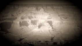 Vintage film look Grand canyon pan stock footage