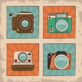 Vintage film movie camera photo retro device. Vector illustration Royalty Free Stock Image