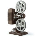 Vintage film movie projector isolated on white. 3d Stock Photography