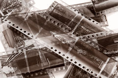 Vintage film with natural scratchs Royalty Free Stock Photography