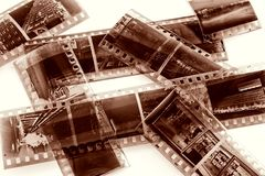 Vintage film with natural scratchs Stock Photo