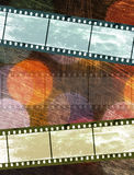 Vintage film negative on colorful texture. D background Royalty Free Stock Photos