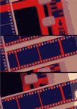 Grunge vintage film frame Stock Photos