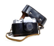 Vintage film photo-camera Stock Photography