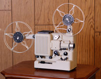 Vintage film projector. Vintage 8mm silent film projector Stock Images