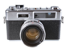 Vintage film rangefinder camera Stock Photography