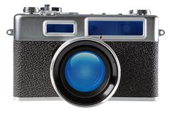 Vintage film rangefinder camera Royalty Free Stock Photography