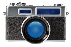 Vintage film rangefinder camera. Isolated on white background Royalty Free Stock Photography