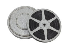 Vintage Film Reel and Can. Isolated with clipping path Stock Images