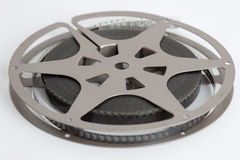Vintage Film Reel Isolated on White Background Stock Images