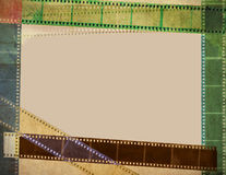 Vintage film with reels colorful background Royalty Free Stock Photos